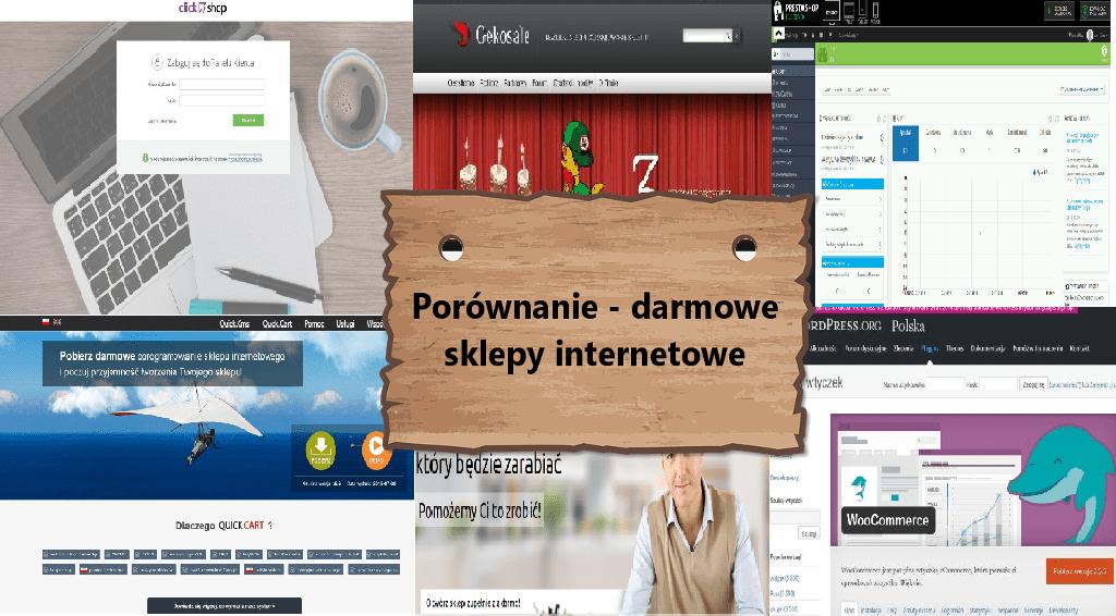 Porównanie - darmowe sklepy internetowe