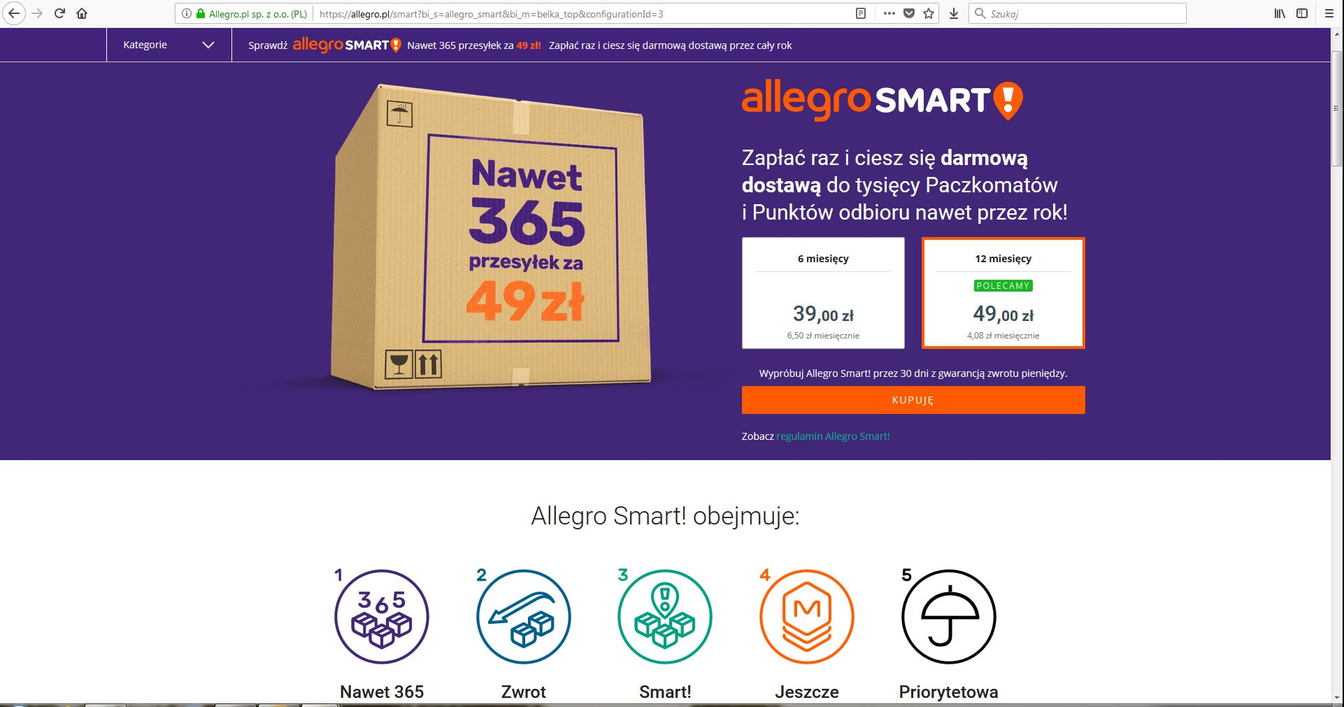 Allegro Smart Nowy Pomysl Allegro Sprzedaje W Necie Blog O Tematyce E Commerce I Handlu W Internecie