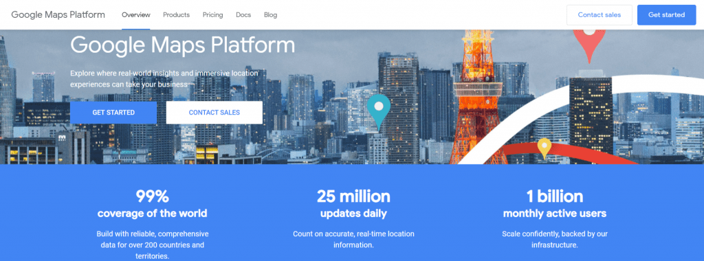API Google Maps Cloud
