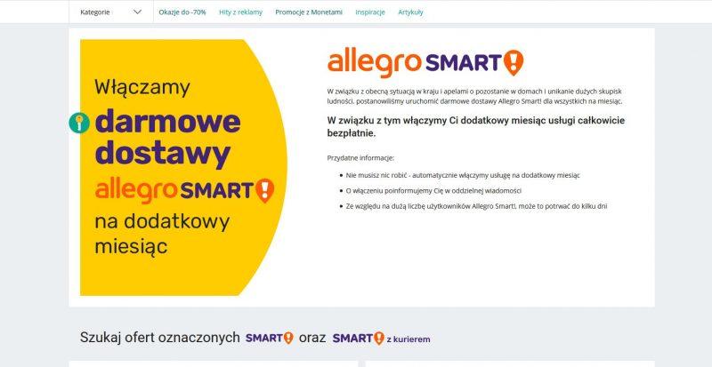Allegro Smart Dla Wszystkich Za Darmo Na Jeden Miesiac Od Allegro Sprzedaje W Necie Blog O Tematyce E Commerce I Handlu W Internecie